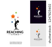 reaching stars logo design... | Shutterstock .eps vector #1247825602