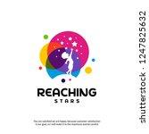 reaching stars logo design... | Shutterstock .eps vector #1247825632