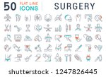 set of vector line icons of... | Shutterstock .eps vector #1247826445