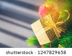 decorated christmas tree with...   Shutterstock . vector #1247829658