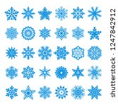 collection of blue  vector... | Shutterstock .eps vector #1247842912