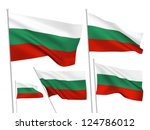bulgaria vector flags set. 5... | Shutterstock .eps vector #124786012