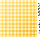 yellow checkered tablecloth.... | Shutterstock .eps vector #1247868862