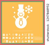 christmas snowman solid icon... | Shutterstock .eps vector #1247868952