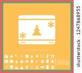 christmas calendar solid icon... | Shutterstock .eps vector #1247868955