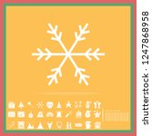 christmas snowflake solid icon... | Shutterstock .eps vector #1247868958