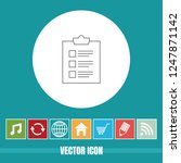 very useful vector line icon of ... | Shutterstock .eps vector #1247871142