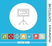 very useful vector line icon of ... | Shutterstock .eps vector #1247871148