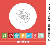 very useful vector line icon of ... | Shutterstock .eps vector #1247871172