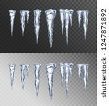 icicles. transparent icicle set ...   Shutterstock .eps vector #1247871892