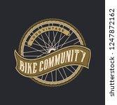 bike logo vintage | Shutterstock .eps vector #1247872162