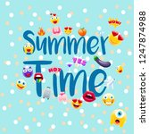 summer time poster or postcard  ...   Shutterstock .eps vector #1247874988