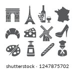 france icons set | Shutterstock . vector #1247875702