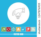 very useful vector line icon of ... | Shutterstock .eps vector #1247876935
