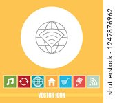 very useful vector line icon of ... | Shutterstock .eps vector #1247876962