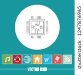 very useful vector line icon of ... | Shutterstock .eps vector #1247876965