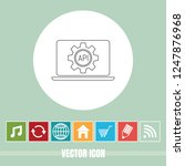 very useful vector line icon of ... | Shutterstock .eps vector #1247876968