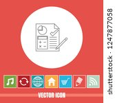 very useful vector line icon of ... | Shutterstock .eps vector #1247877058