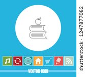 very useful vector line icon of ... | Shutterstock .eps vector #1247877082