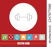 very useful vector line icon of ... | Shutterstock .eps vector #1247877088