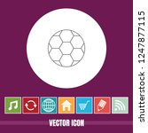 very useful vector line icon of ... | Shutterstock .eps vector #1247877115