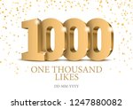 anniversary or event 1000. gold ... | Shutterstock .eps vector #1247880082