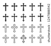 Set Christian Cross Vector...