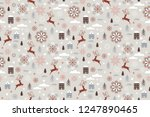 seamless christmas and new year ... | Shutterstock .eps vector #1247890465