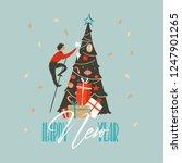 hand drawn vector abstract fun... | Shutterstock .eps vector #1247901265