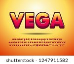 3d simple orange red font... | Shutterstock .eps vector #1247911582