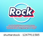 simple cool youth sticker font... | Shutterstock .eps vector #1247911585