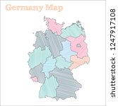 germany hand drawn map.... | Shutterstock .eps vector #1247917108