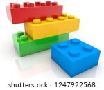 four toy bricks in various... | Shutterstock . vector #1247922568