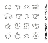 pig related icons  thin vector... | Shutterstock .eps vector #1247931562