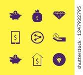 wealth icon. wealth vector... | Shutterstock .eps vector #1247932795