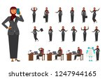 smart business arab woman... | Shutterstock .eps vector #1247944165