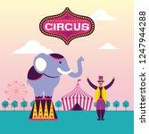 circus fun fair | Shutterstock .eps vector #1247944288