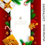 merry christmas and happy new... | Shutterstock .eps vector #1247945095