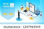 isometric hiring  recruitment...   Shutterstock .eps vector #1247963545