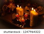 festive candles on the wedding... | Shutterstock . vector #1247964322