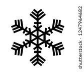 snowflake icon. beautiful six... | Shutterstock .eps vector #1247964682