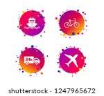 cargo truck and shipping icons. ... | Shutterstock .eps vector #1247965672