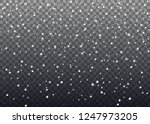realistic falling snowflakes.... | Shutterstock .eps vector #1247973205