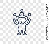 Circus Monkey Icon. Trendy...