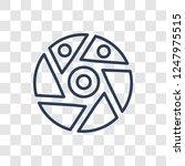 shutter icon. trendy linear... | Shutterstock .eps vector #1247975515