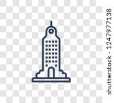skyscraper icon. trendy linear... | Shutterstock .eps vector #1247977138