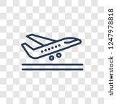 departures icon. trendy linear... | Shutterstock .eps vector #1247978818