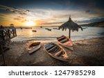 sunset  views around curacao a... | Shutterstock . vector #1247985298