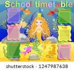 school timetable template for... | Shutterstock .eps vector #1247987638