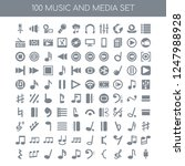 100 music and media universal... | Shutterstock .eps vector #1247988928